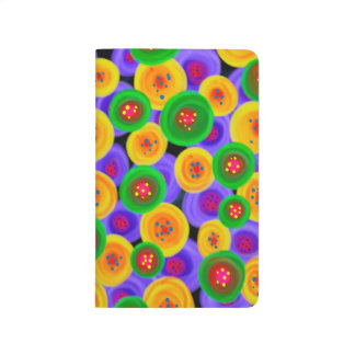 Abstraction Art Bright Yello Green And Blue Circle Journal