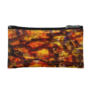 Abstraction Art Brown And Black Feathers Makeup Bags