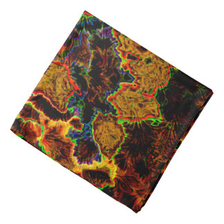 Abstraction Art Brown Background Bandana