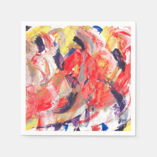 Abstraction Art Colorful Strokes Paper Serviettes