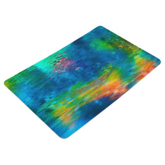 Abstraction Art Colorful Water Reflections Floor Mat