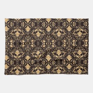 Abstraction Art Damask Pattern Wallpaper Kitchen Towel