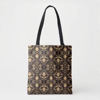 Abstraction Art Damask Pattern Wallpaper Tote Bag