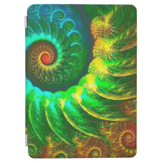 Abstraction Art Green And Brown Whirl iPad Air Cover