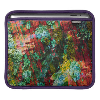 Abstraction Art Green And Red Texture iPad Sleeve