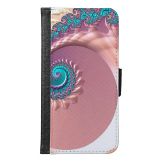 Abstraction Art Lilac Whirl Samsung Galaxy S6 Wallet Case
