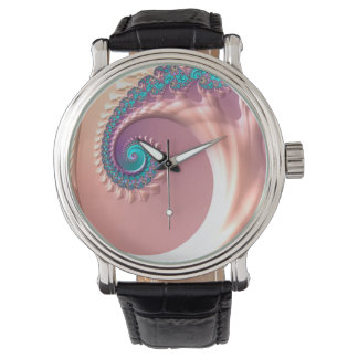 Abstraction Art Lilac Whirl Watch