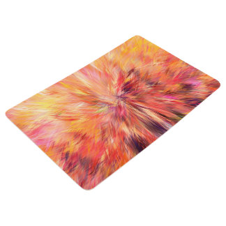 Abstraction Art Pink Color Floor Mat