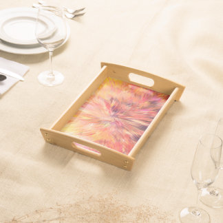 Abstraction Art Pink Color Serving Tray