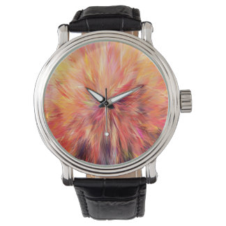Abstraction Art Pink Color Wristwatch