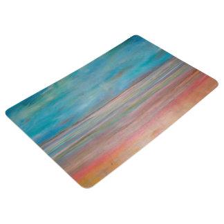Abstraction Art Reflection On Silence Floor Mat