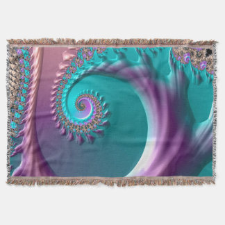 Abstraction Art Tree Like Effect Throw Blanket