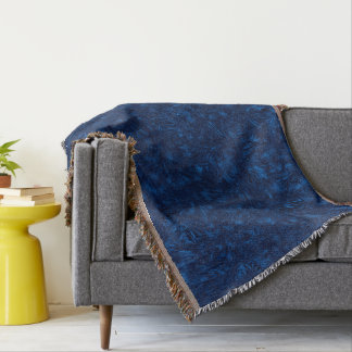 Abstraction Blue Background Texture Throw Blanket