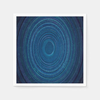 Abstraction Blue Whirls Background Disposable Serviettes