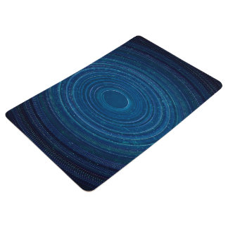 Abstraction Blue Whirls Background Floor Mat