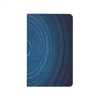 Abstraction Blue Whirls Background Journal