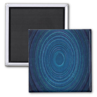 Abstraction Blue Whirls Background Magnet