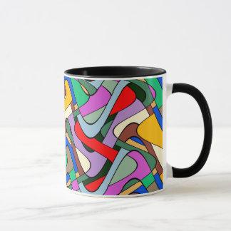 Abstraction Colorful Contour Art Mug
