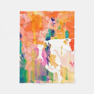 Abstraction Cow Watercolor Silhouette Fleece Blanket