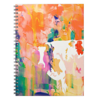 Abstraction Cow Watercolor Silhouette Notebooks