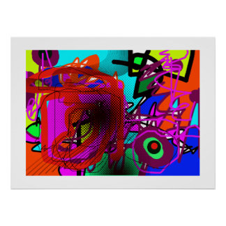 abstraction for walls prints poster