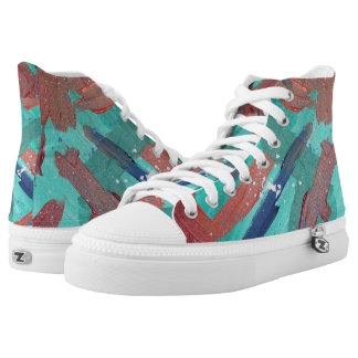 Abstraction in Colour Hi Top Printed Shoes