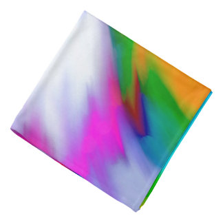 Abstraction Multi Color Bright Texture Bandana