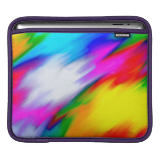 Abstraction Multi  Color Bright Texture iPad Sleeve