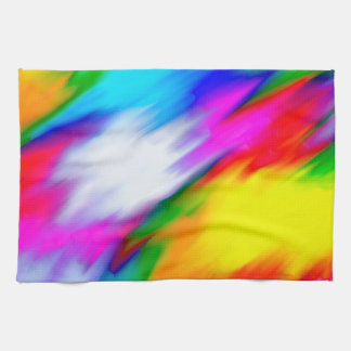 Abstraction Multi  Color Bright Texture Kitchen Towels