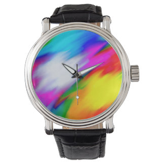 Abstraction Multi Color Bright Texture Watch