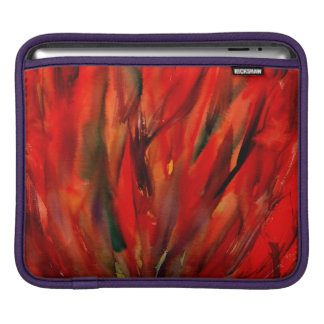 Abstraction Red Flame Art iPad Sleeve