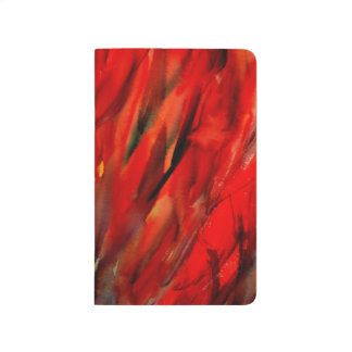Abstraction Red Flame Art Journal