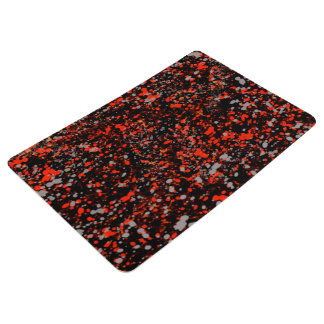Abstraction Seamless Dot Dabs Red Black And Gray Floor Mat