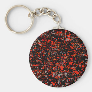 Abstraction Seamless Dot Dabs Red Black And Gray Key Ring