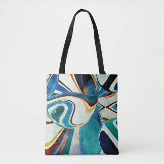 Abstraction with Geometric Spirit Tote Bag