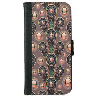 Abstractly Art  Background Pink Green And Purple iPhone 6 Wallet Case