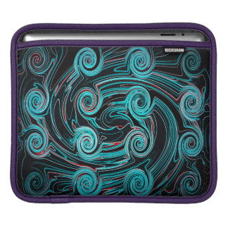 Abstractly Art Black And Blue Background iPad Sleeve