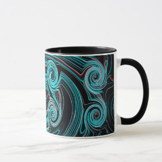 Abstractly Art Black And Blue Background Mug