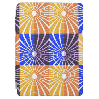 Abstractly Art Blue And Brown Grid iPad Air Cover