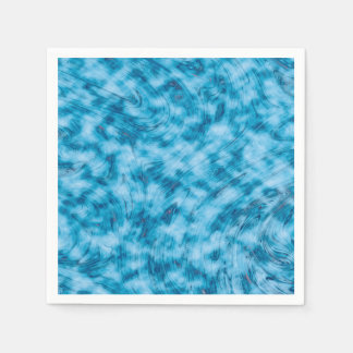 Abstractly Art  Blue And White Background Disposable Napkins