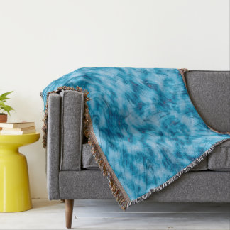 Abstractly Art  Blue And White Background Throw Blanket