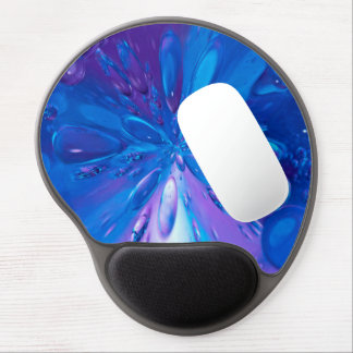 Abstractly Art Blue Water Drops Background Gel Mouse Mat