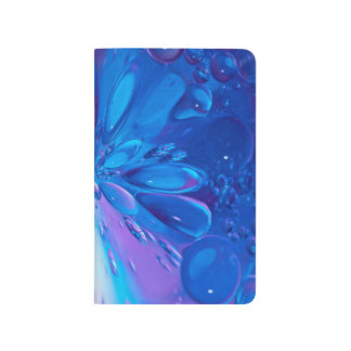Abstractly Art Blue Water Drops Background Journal