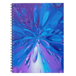 Abstractly Art Blue Water Drops Background Notebooks