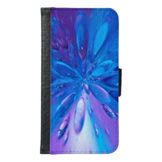 Abstractly Art Blue Water Drops Background Samsung Galaxy S6 Wallet Case