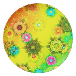 Abstractly Art, Bright & Colorful Plate