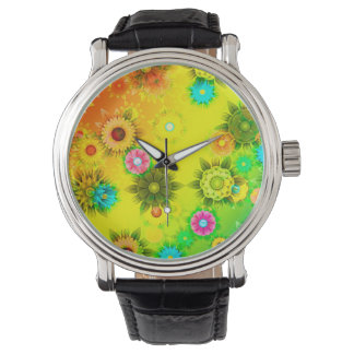 Abstractly Art, Bright & Colorful Watch