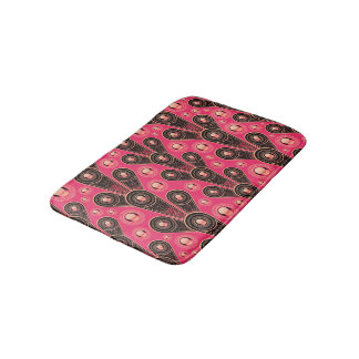 Abstractly Art Grey And Pink Glitter Background Bath Mat