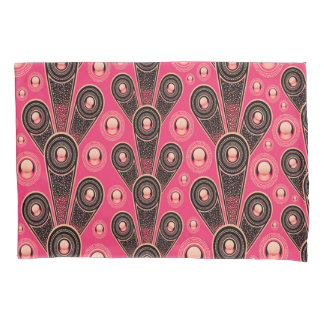Abstractly Art Grey And Pink Glitter Background Pillowcase