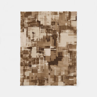 Abstractly Art  Grey Pattern Fleece Blanket
